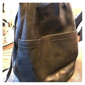 Black madewell leather backpack